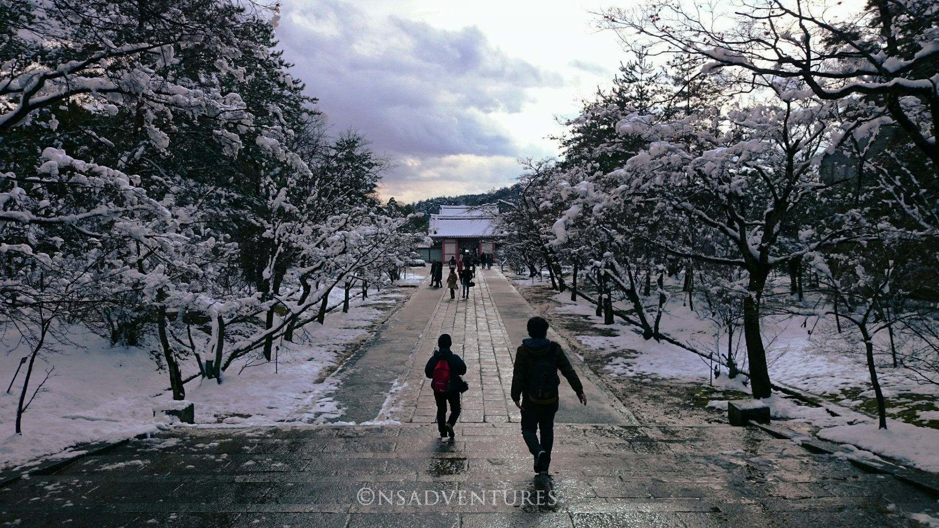 Come muoversi a Kyoto: Ninna-ji Entrance covered by snow