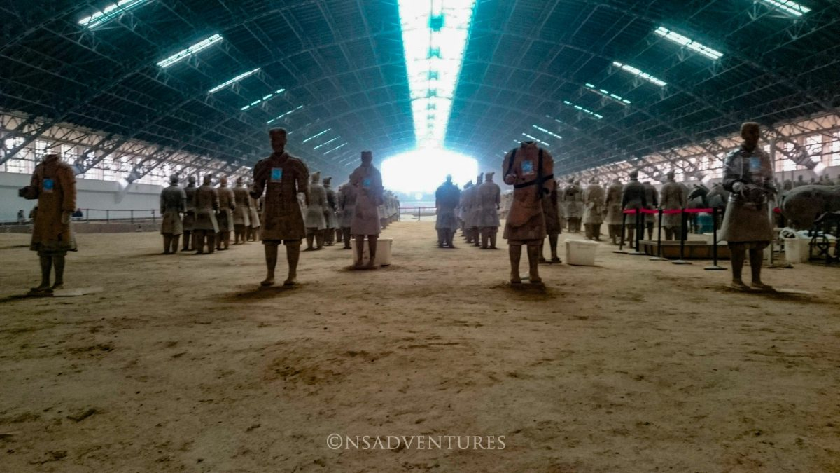 Esercito di Terracotta, Itinerario a Xian
